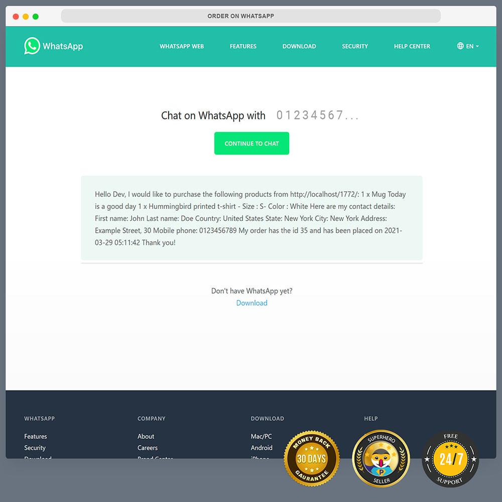 module - Support & Chat Online - Commande sur WhatsApp - 11