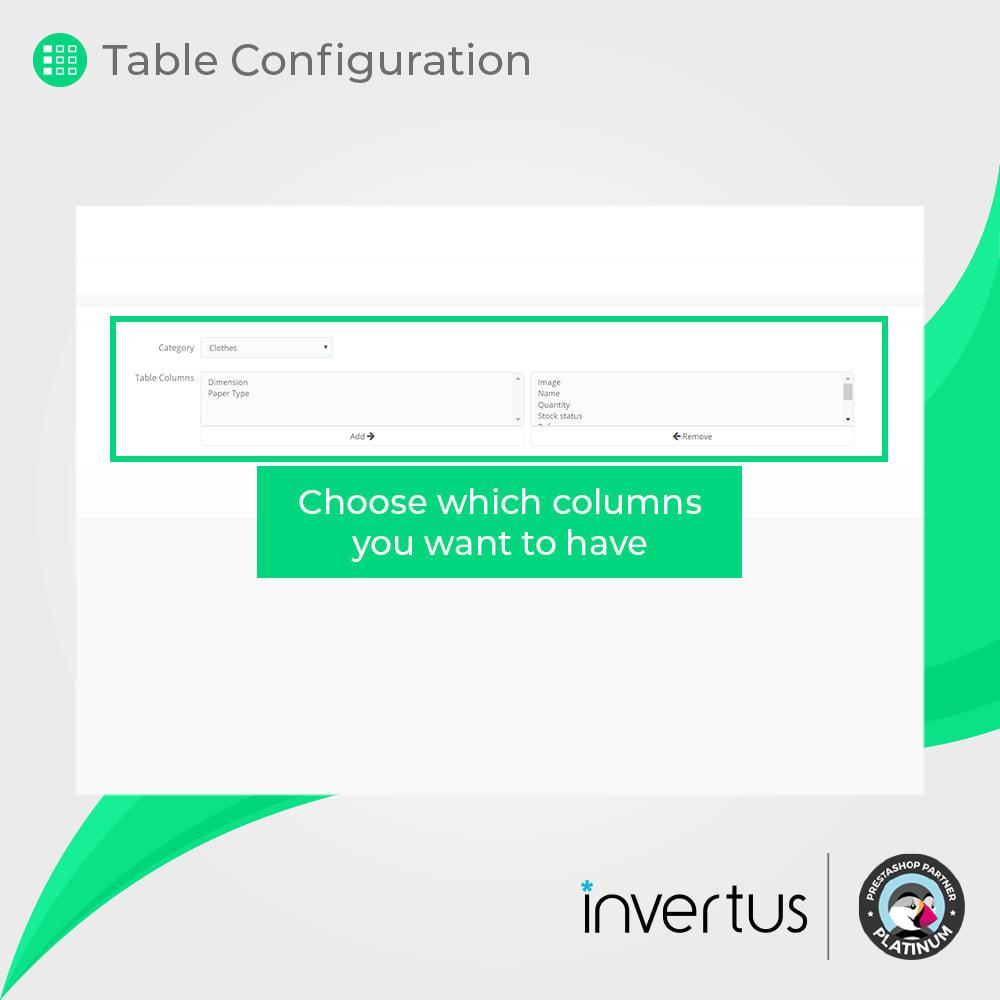 module - Combinaciones y Personalización de productos - Tabla de atributos simple: para producto - 6