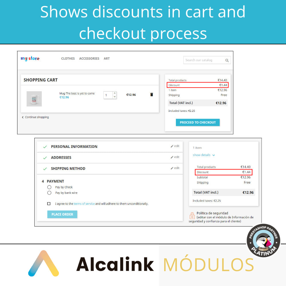 module - Promotions & Gifts - Show discounts in cart and checkout - 3