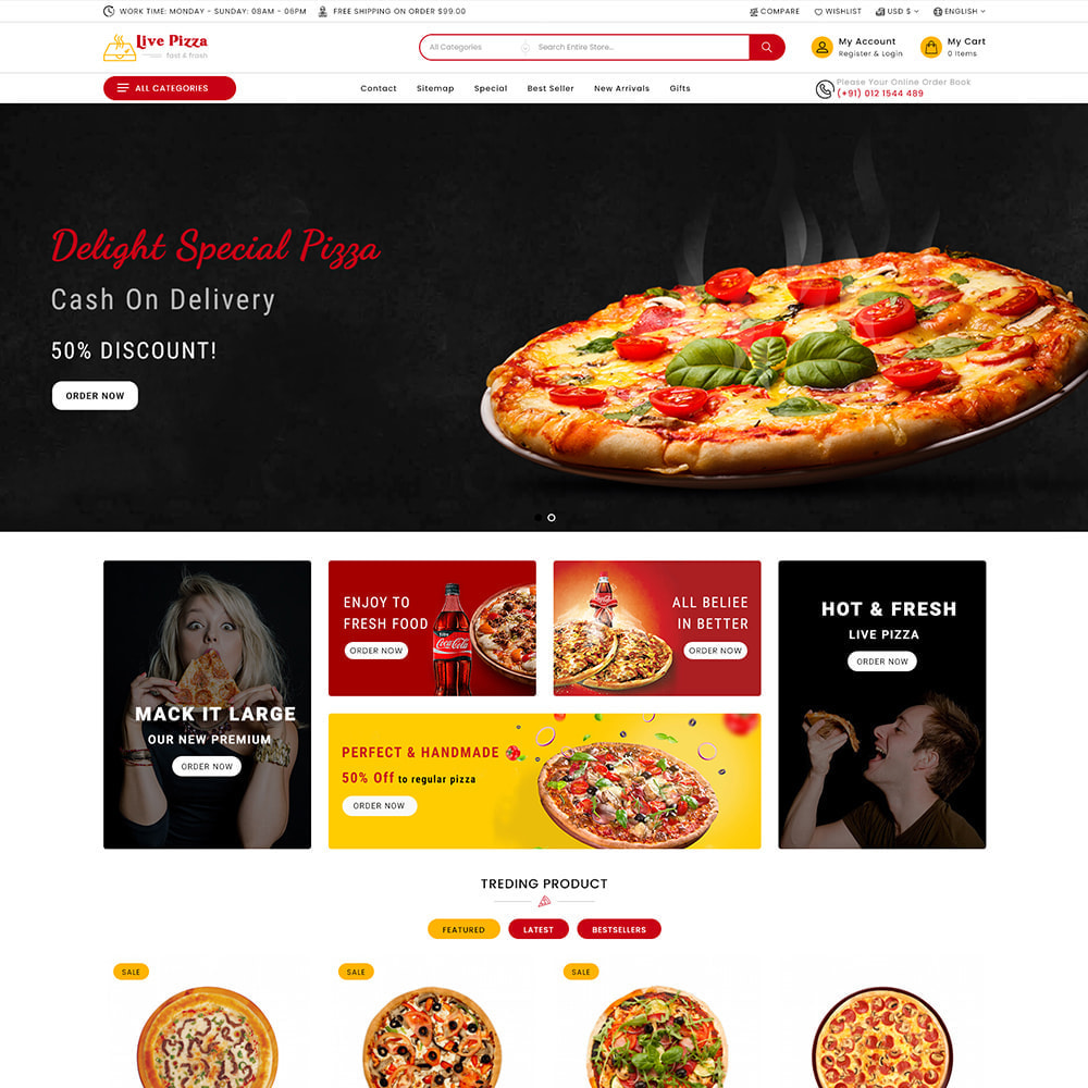 theme - Eten & Restaurant - Live Pizza - Fast And Fresh Restaurant - 2
