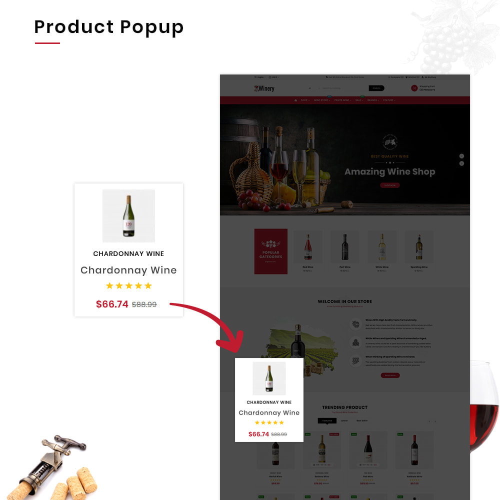 theme - Napoje & Wyroby tytoniowe - Winery Mega France–Wine  Alcohol–Drink Super Store - 11