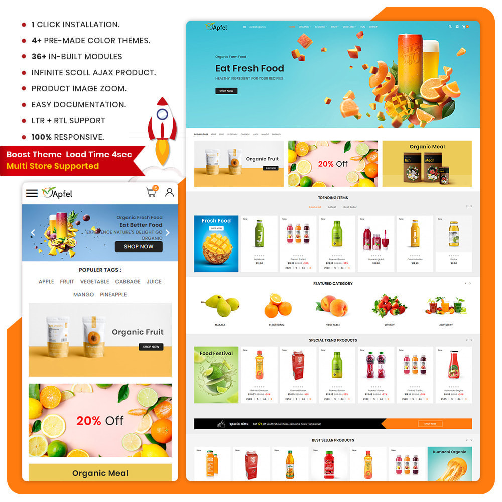 theme - Food & Restaurant - Fresh Food - The Organic Store - 1