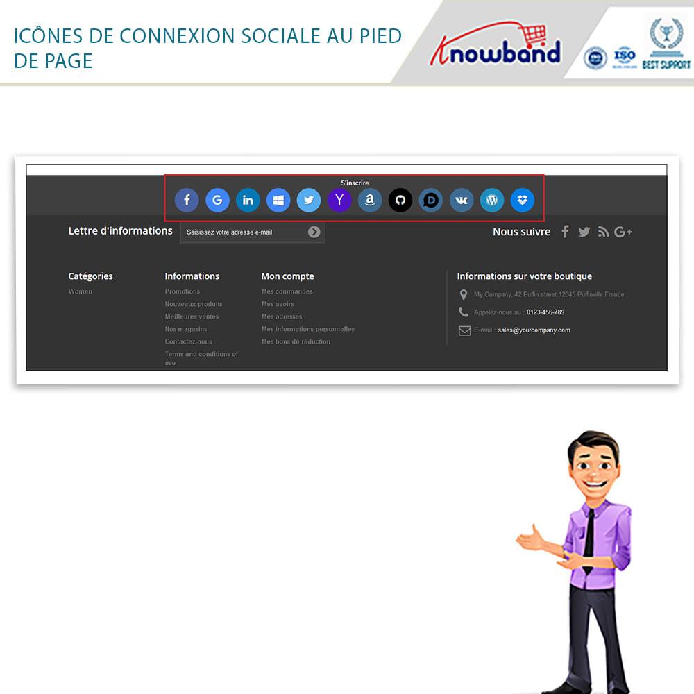 module - Boutons Login & Connect - Knowband- SocialLogin,14 en 1,Statistiques et MailChimp - 3