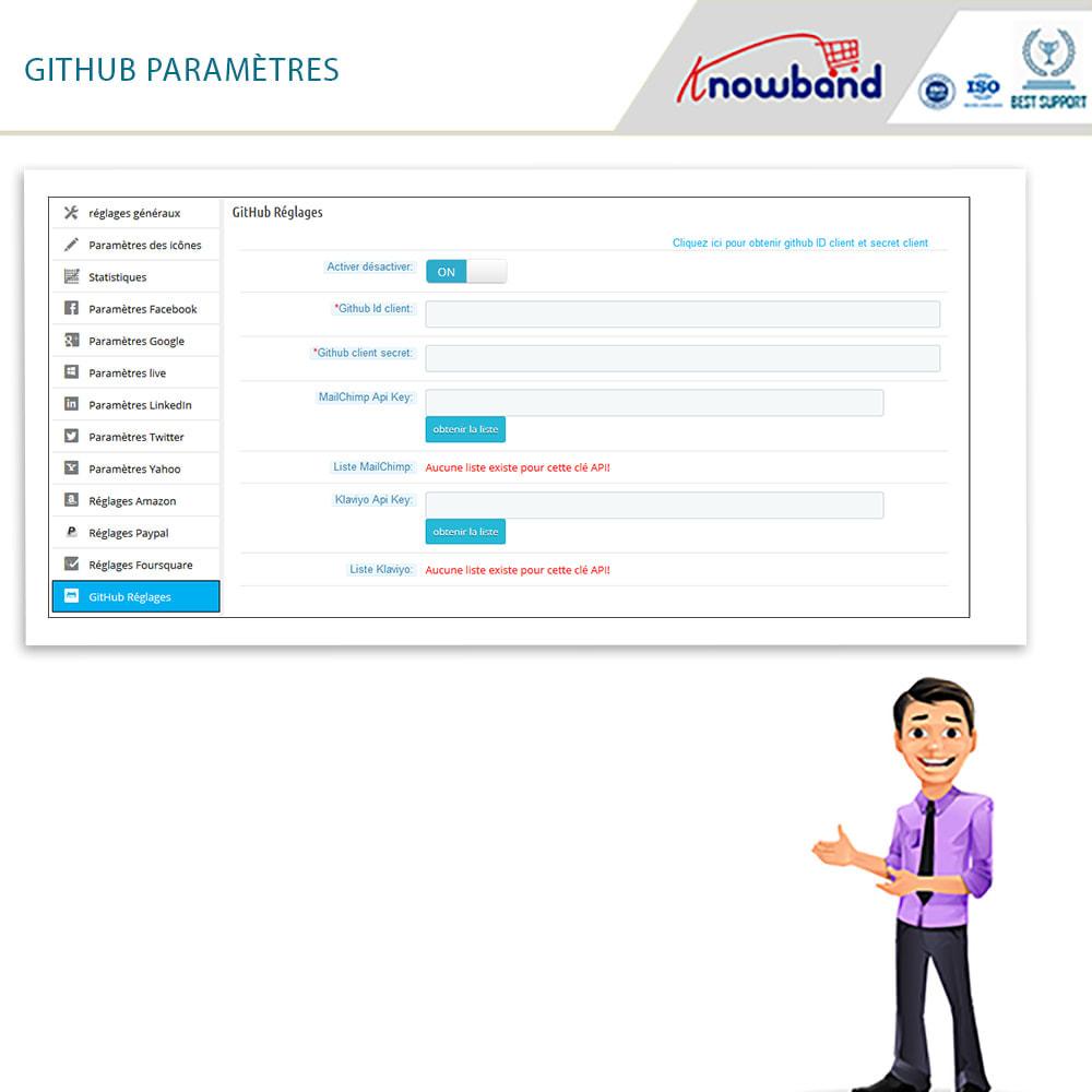 module - Boutons Login & Connect - Knowband- SocialLogin,14 en 1,Statistiques et MailChimp - 8