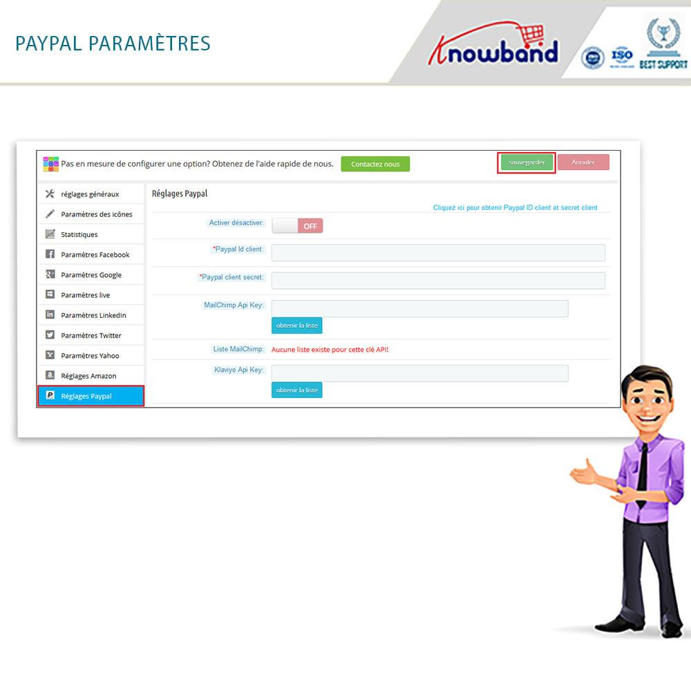 module - Boutons Login & Connect - Knowband- SocialLogin,14 en 1,Statistiques et MailChimp - 16