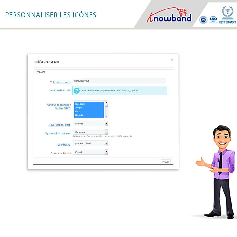 module - Boutons Login & Connect - Knowband- SocialLogin,14 en 1,Statistiques et MailChimp - 17