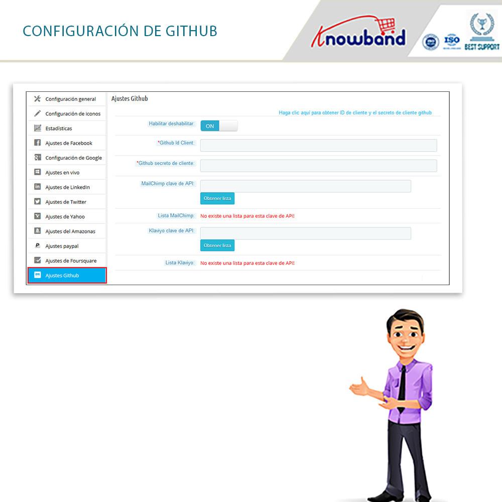 module - Botones de inicio de Sesión/Conexión - Knowband-Acceso Social 14 in 1,Estadísticas & MailChimp - 11
