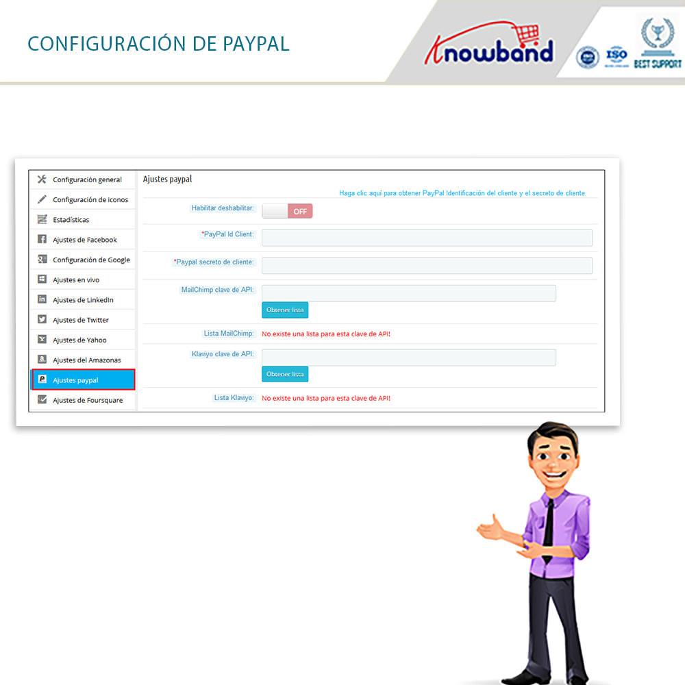 module - Botones de inicio de Sesión/Conexión - Knowband-Acceso Social 14 in 1,Estadísticas & MailChimp - 16