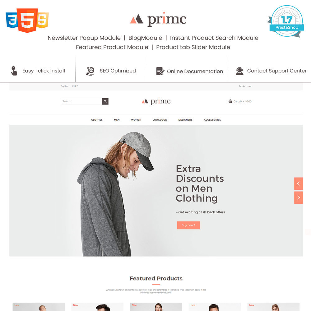 theme - Mode & Chaussures - Prime Fashion  - Women Cloth Designer Store - 1