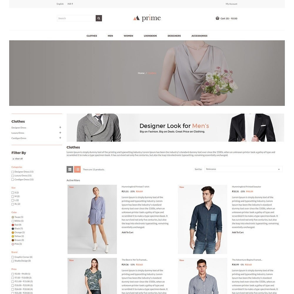 theme - Mode & Chaussures - Prime Fashion  - Women Cloth Designer Store - 5