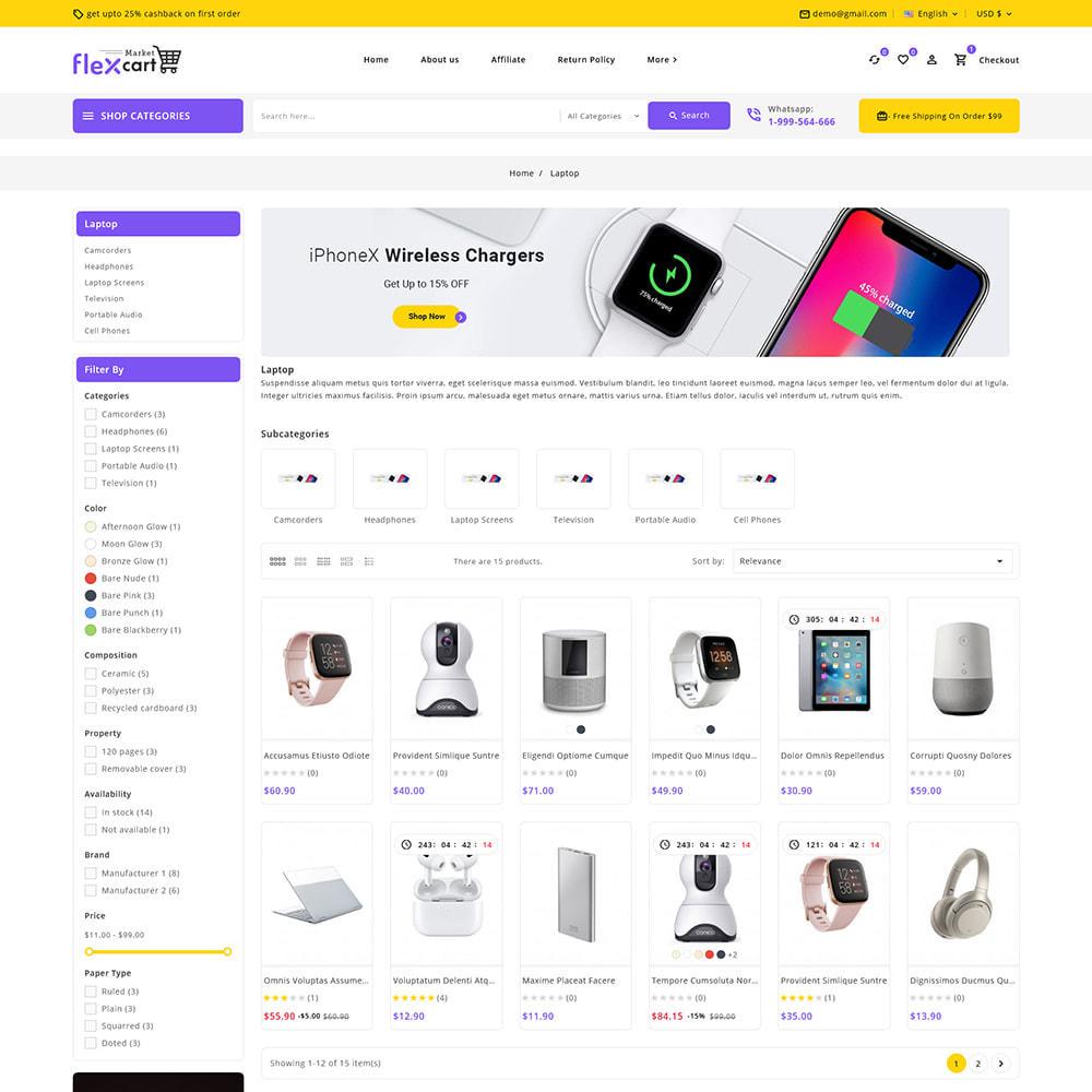 theme - Electrónica e High Tech - Flexcart - Mega Electronic Super Store - 5