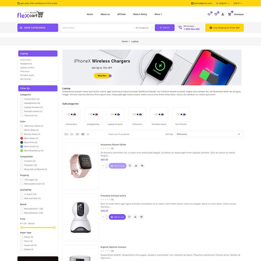 theme - Electrónica e High Tech - Flexcart - Mega Electronic Super Store - 7
