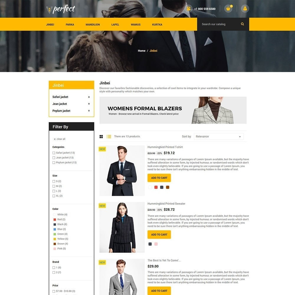 theme - Mode & Chaussures - Perfect Suit - Fashion Designer Blazer Store - 4