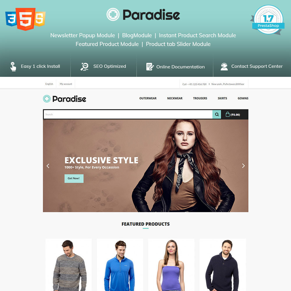 theme - Mode & Chaussures - Paradise Fashion - Clothes Dress  Store - 1