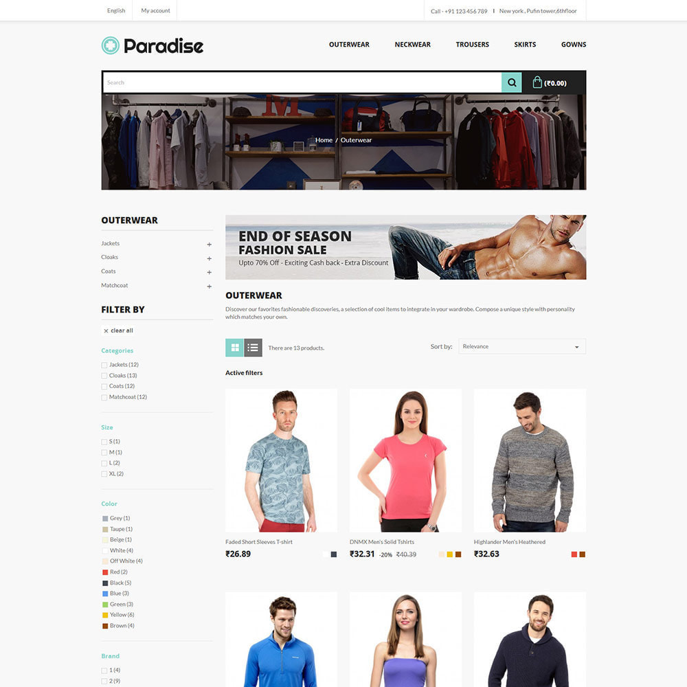 theme - Mode & Chaussures - Paradise Fashion - Clothes Dress  Store - 3