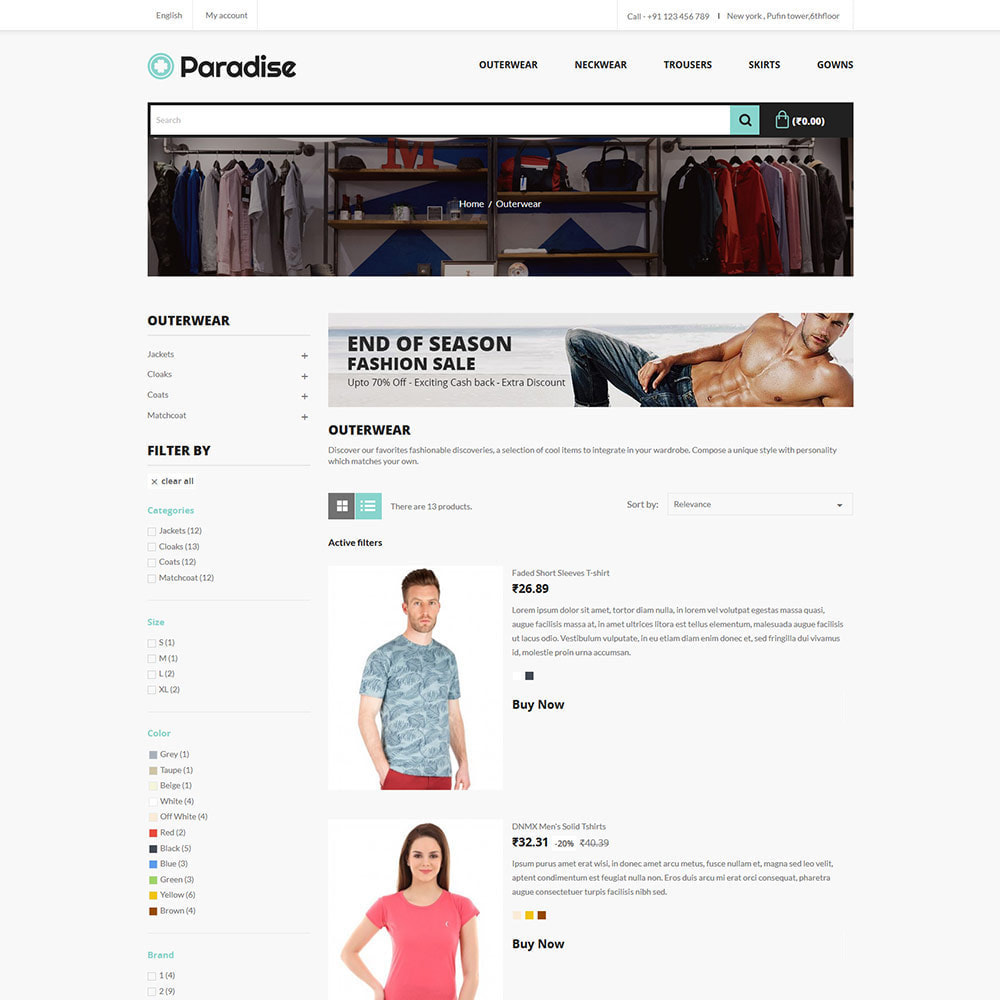 theme - Mode & Chaussures - Paradise Fashion - Clothes Dress  Store - 4