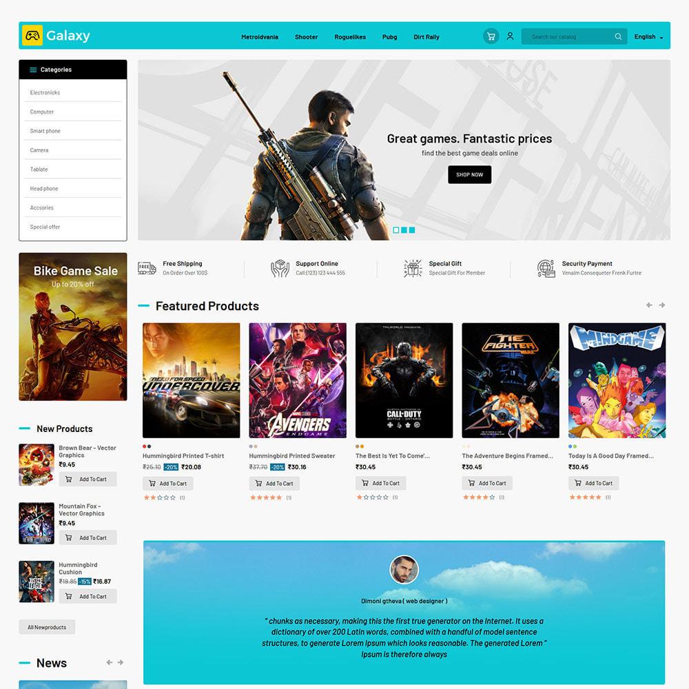 theme - Enfants & Jouets - Galaxy Game - Magasin de jouets pour jeux numériques - 3