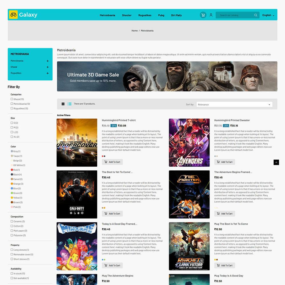 theme - Kinder & Spielzeug - Galaxy Game Zone - Digitaler Spielwarenladen - 5