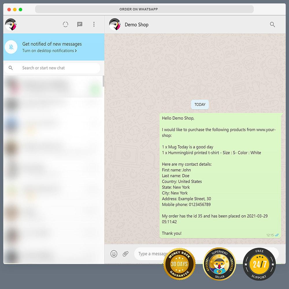 module - Ondersteuning & Online chat - WhatsApp Integration PRO - Bestil, chat, agenter - 12