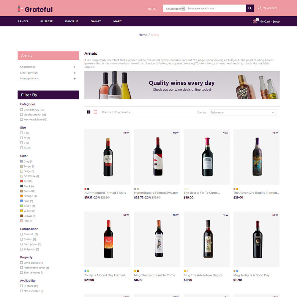 theme - Bebidas y Tabaco - Vino - Tienda de vino tinto de cerveza de alcohol - 4