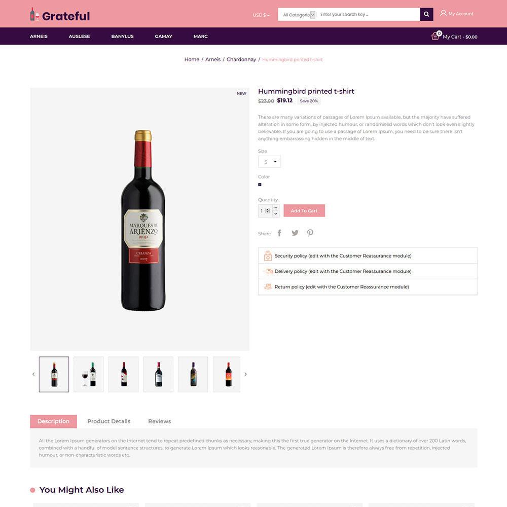 theme - Getränke & Tabak - Dankbarer Wein - Alkohol Bier Rotweinladen - 6