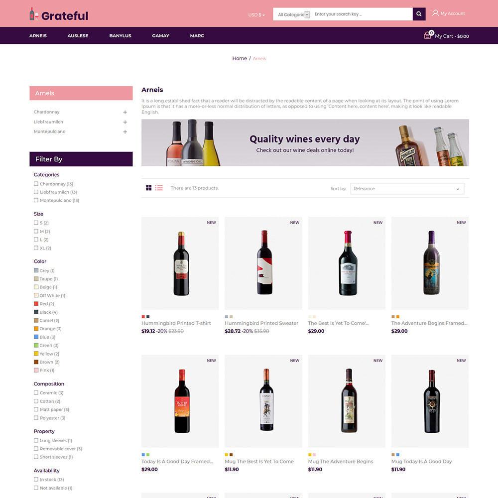 theme - Napoje & Wyroby tytoniowe - Wdzięczne wino - Sklep z piwem czerwonym winem - 5