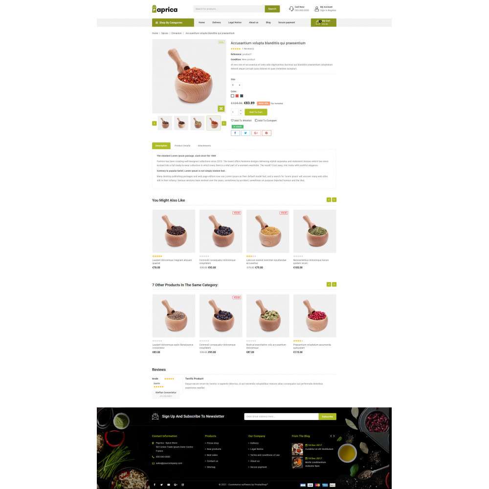 theme - Food & Restaurant - Paprica - Spice Store - 5