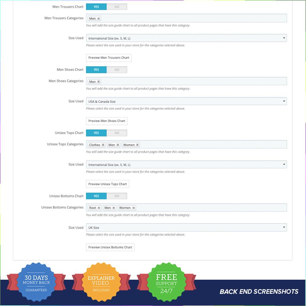 module - Grandezze & Unità di misura - Size Guidance - Product Size Chart - 5