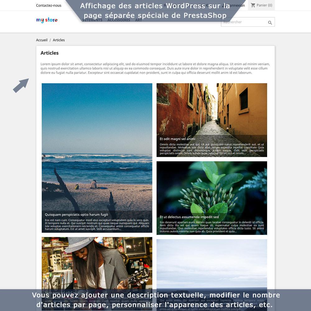 module - Blog, Forum & Actualités - Intégration bidirectionnelle PrestaShop-WordPress - 4