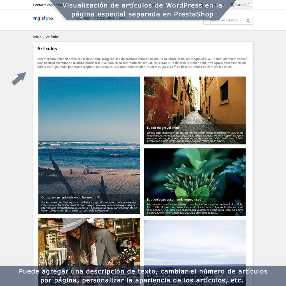 module - Blog, Foro y Noticias - Integración bilateral de PrestaShop y WordPress - 4