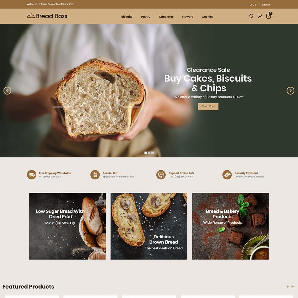 theme - Alimentation & Restauration - Breadboss Food - Pain de pain Burger Pizza Store - 3