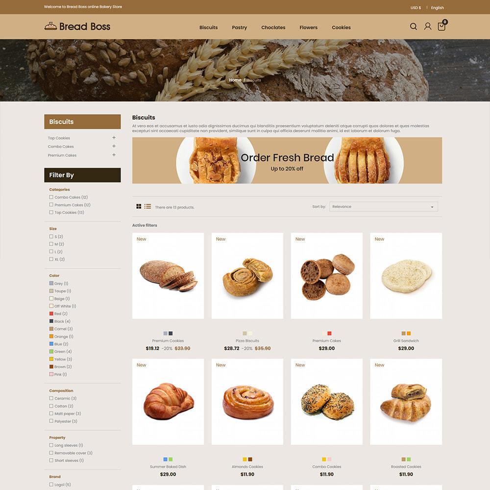 theme - Alimentation & Restauration - Breadboss Food - Pain de pain Burger Pizza Store - 4