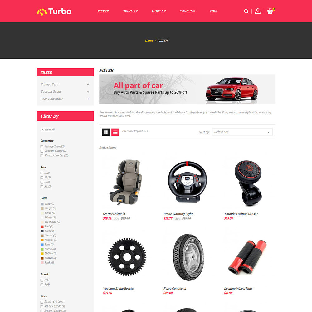 theme - Auto & Moto - Ricambi per motori - Negozio di attrezzi per auto - 4