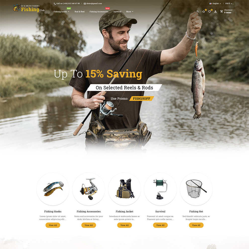 theme - Sport, Aktivitäten & Reise - Fishing club - Equipment Store - 2
