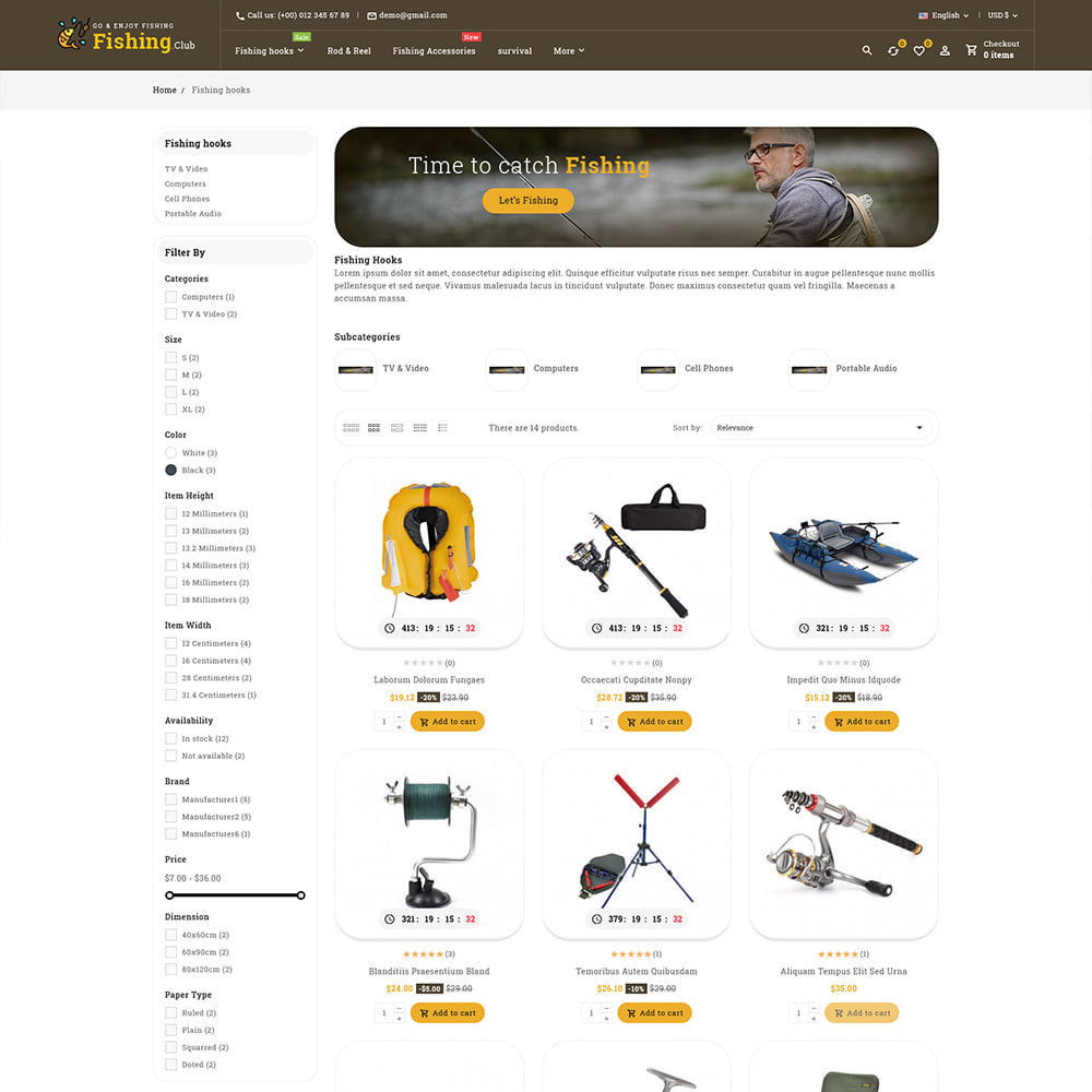 theme - Sport, Aktivitäten & Reise - Fishing club - Equipment Store - 4