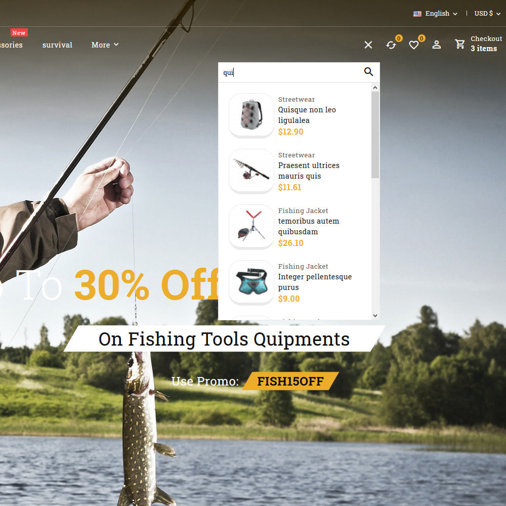 theme - Sport, Aktivitäten & Reise - Fishing club - Equipment Store - 14