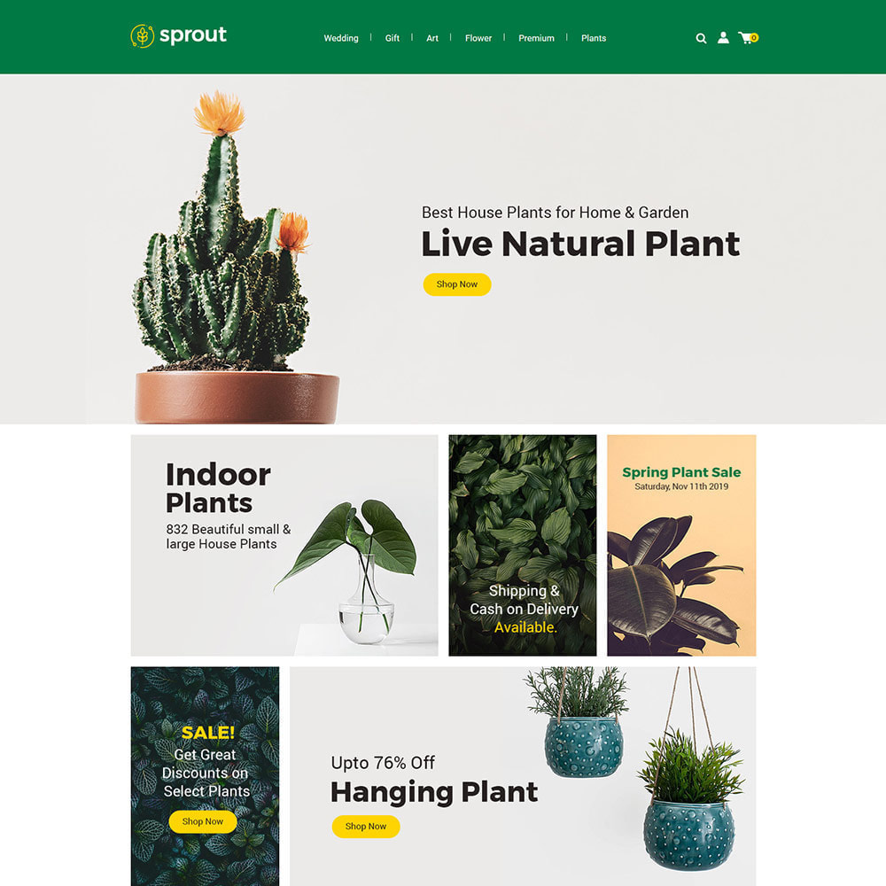 theme - Home & Garden - Sprout Plant - Tree  Natural Flower Store - 1