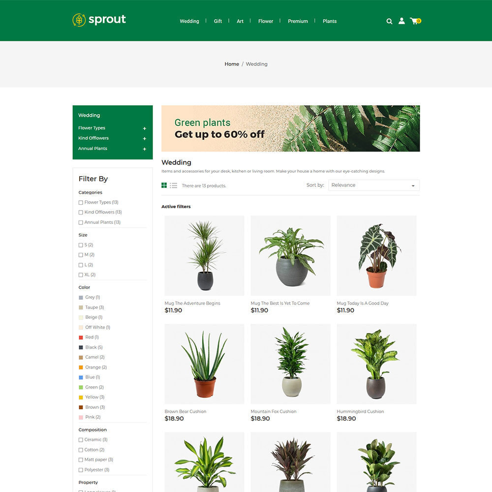 theme - Home & Garden - Sprout Plant - Tree  Natural Flower Store - 2