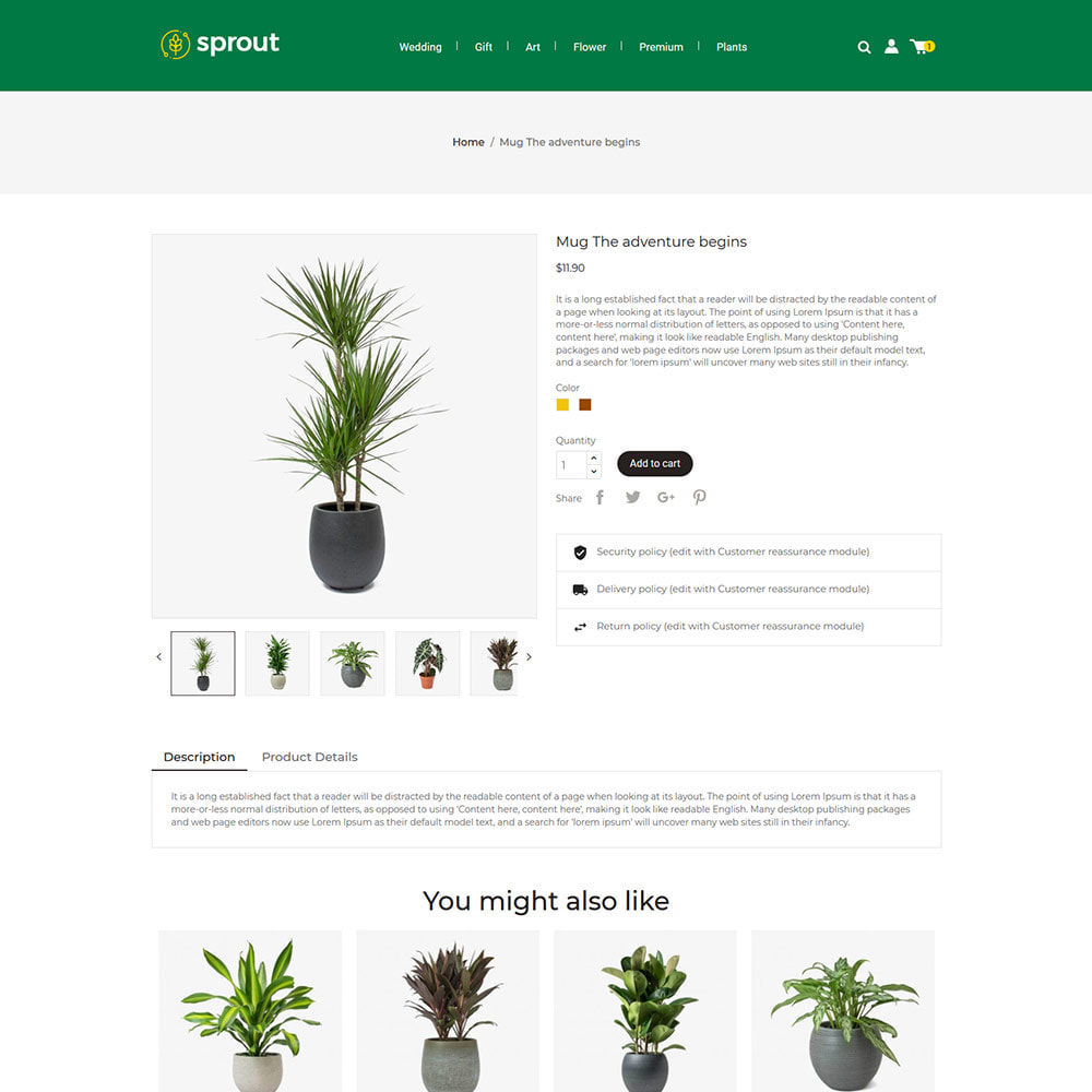 theme - Home & Garden - Sprout Plant - Tree  Natural Flower Store - 4