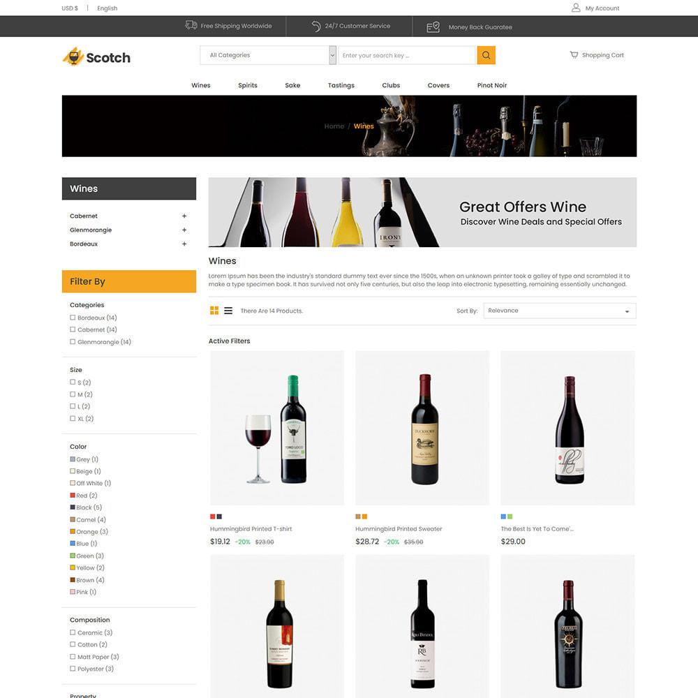theme - Bebidas y Tabaco - Scotch Wine - Tienda de bebidas alcohólicas - 4