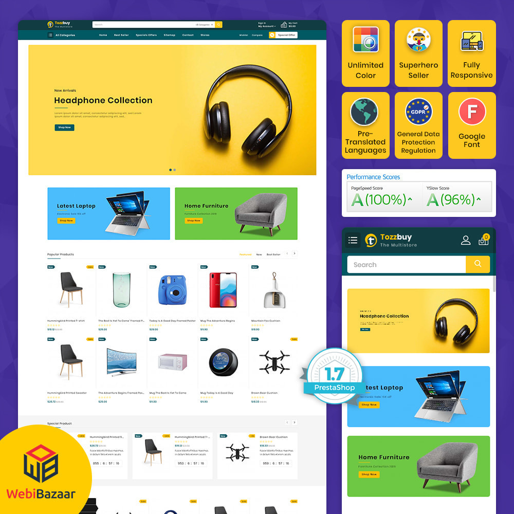 theme - Electronics & Computers - Tozzbuy - Super Market Multipurpose Store - 1