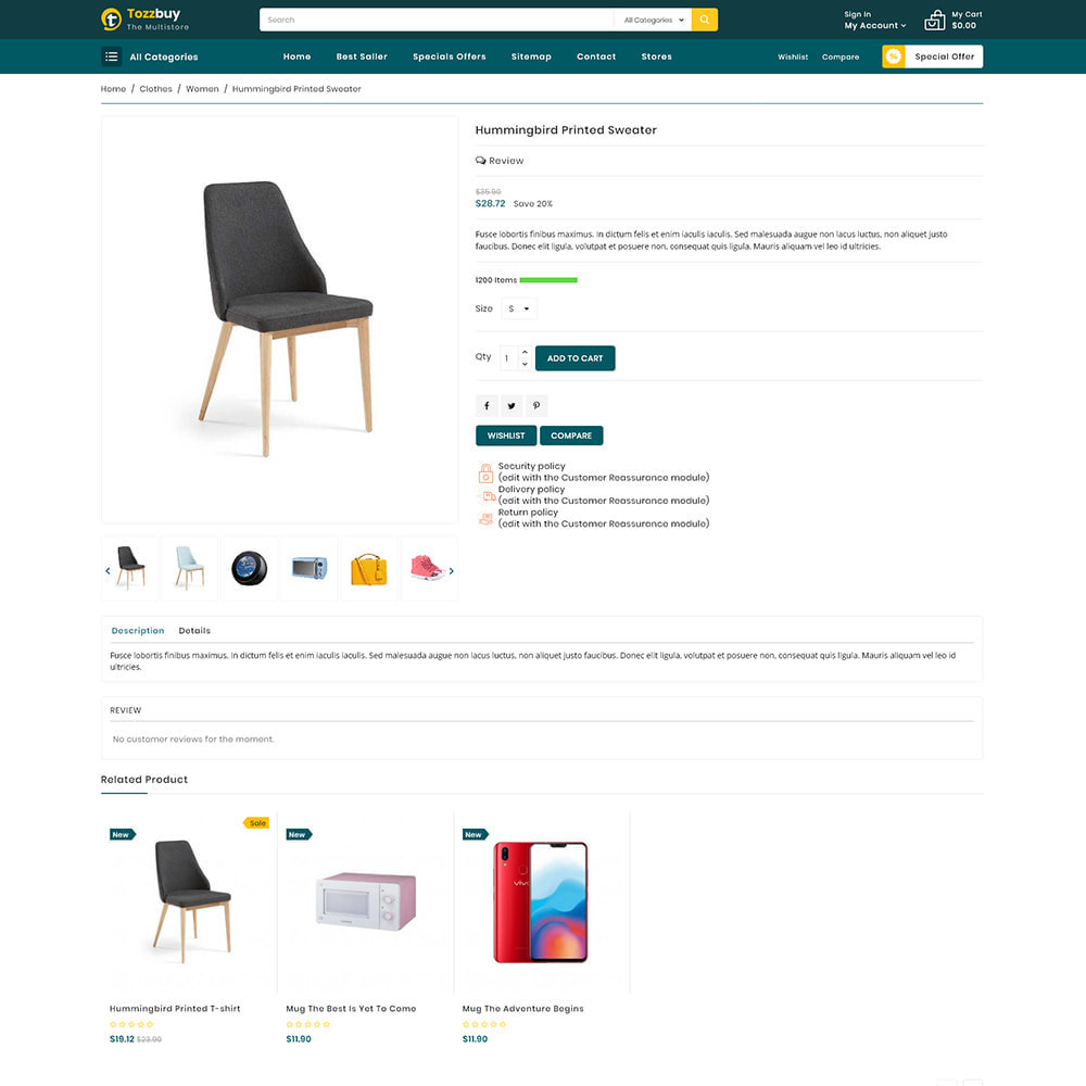 theme - Electronics & Computers - Tozzbuy - Super Market Multipurpose Store - 5