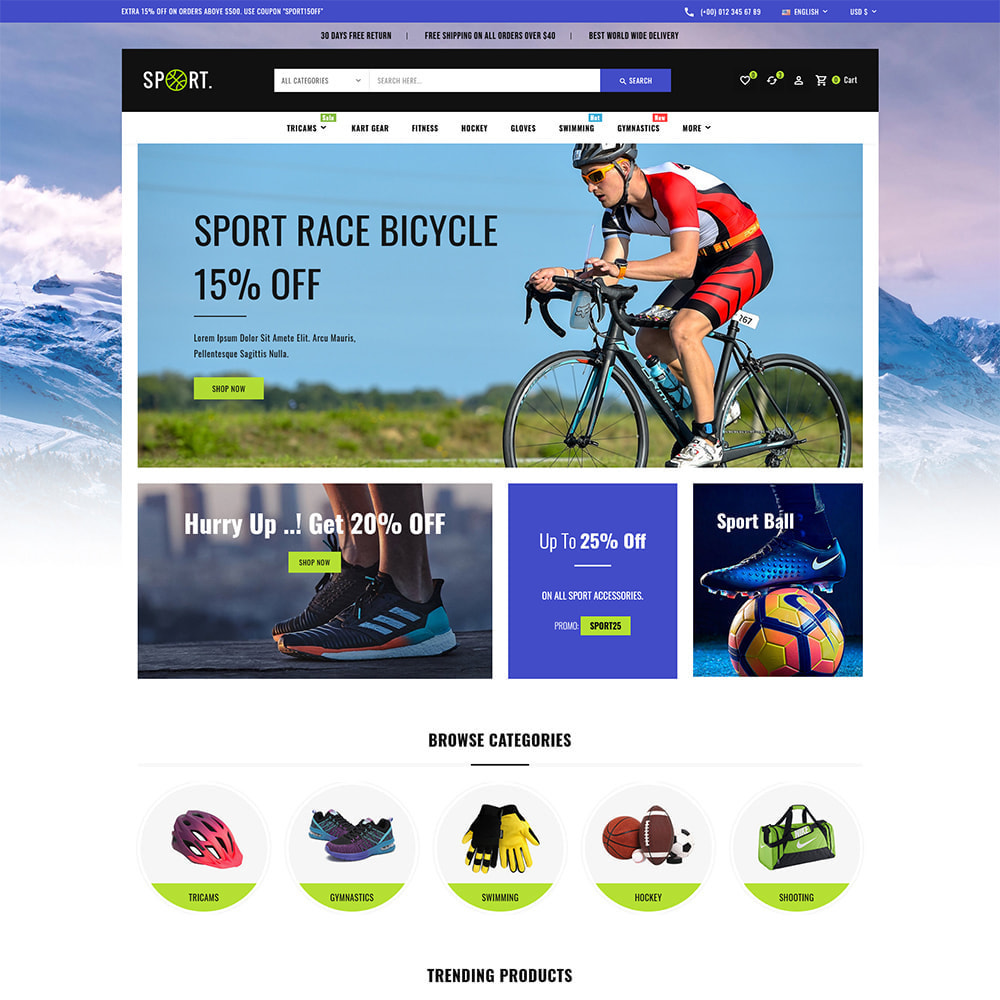 theme - Sports, Activities & Travel - Sports - Travel Store - 2
