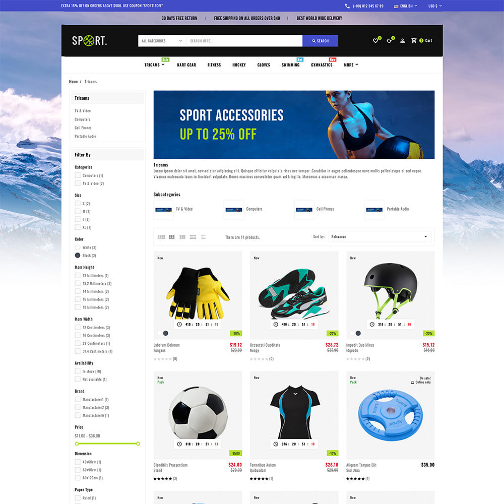 theme - Sports, Activities & Travel - Sports - Travel Store - 4