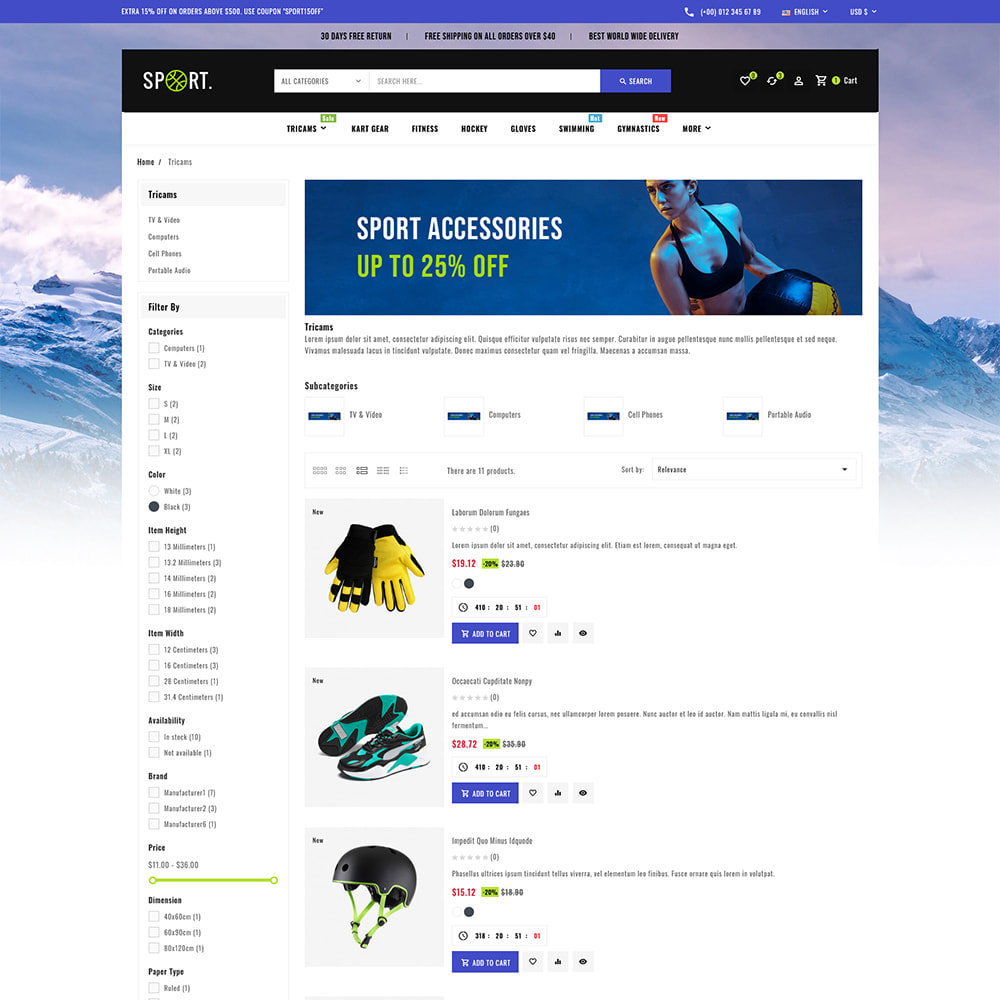 theme - Sports, Activities & Travel - Sports - Travel Store - 7