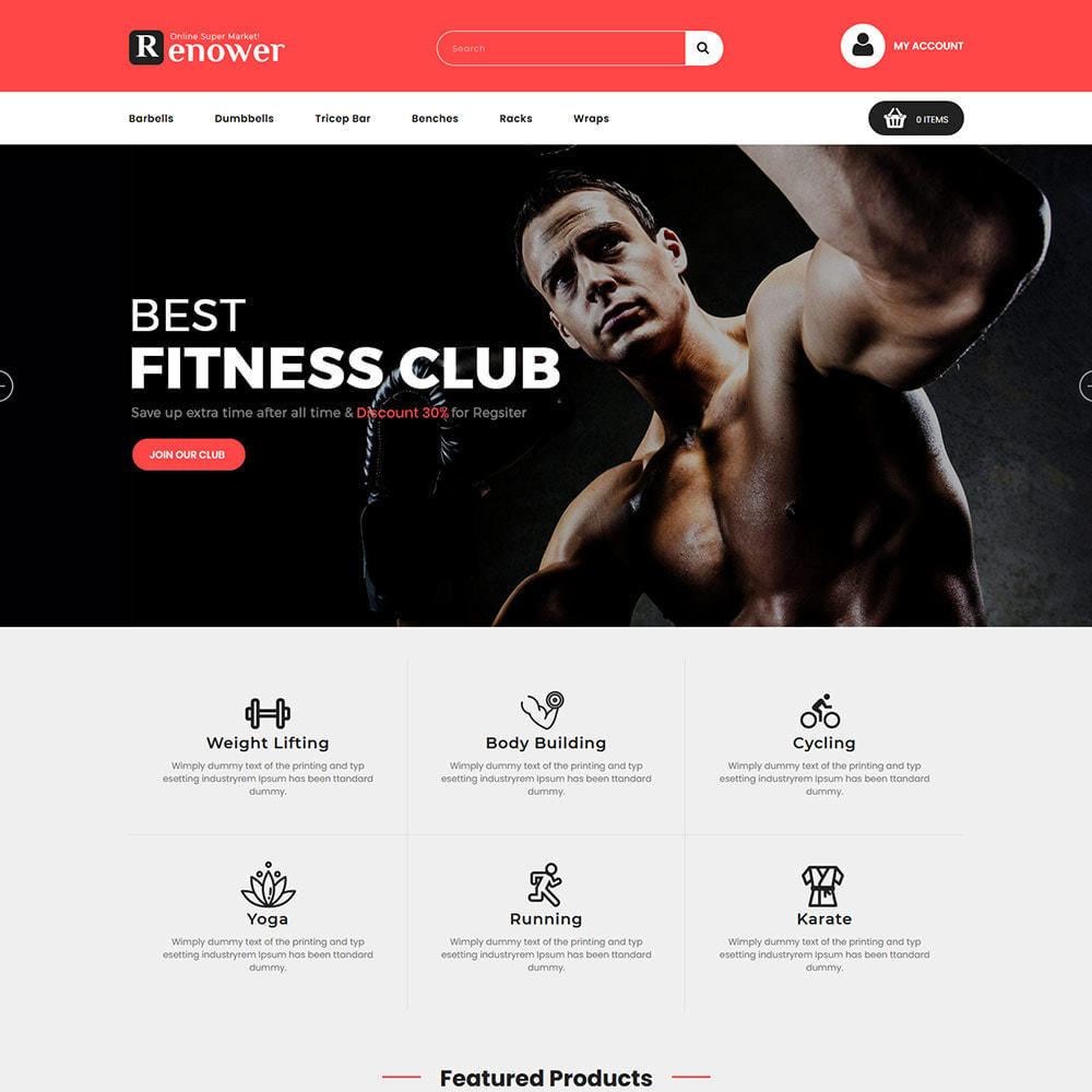 theme - Sport, Loisirs & Voyage - Gym Club - Magasin de cirque d'exercices de santé - 3