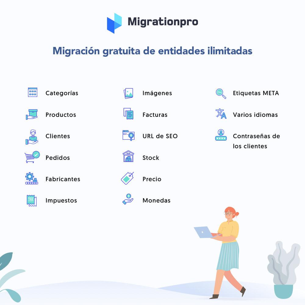 module - Migración y Copias de seguridad - Herramienta de migración de WooCommerce a PrestaShop - 2