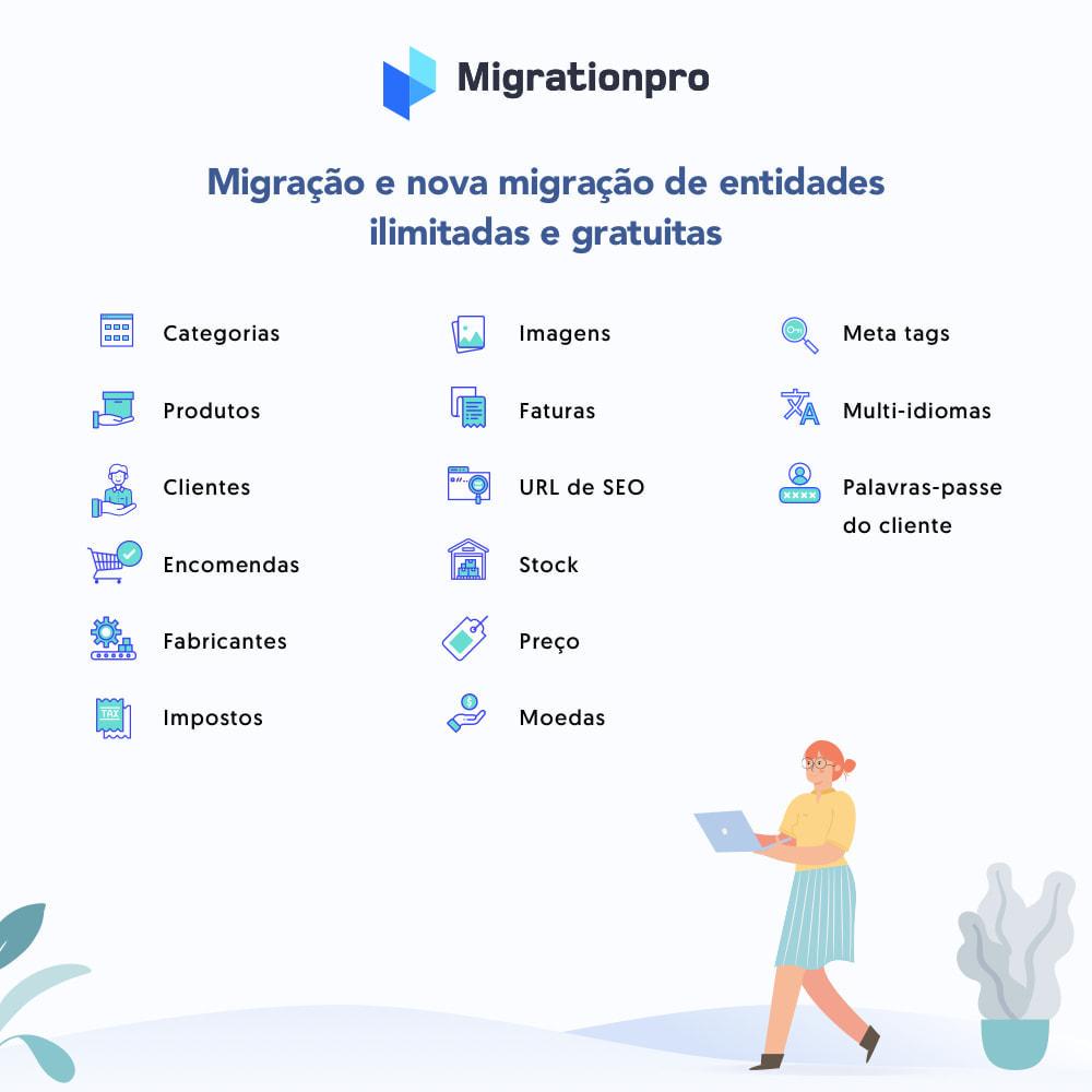 module - Migração de Dados & Registro - Ferramenta de Migração de WooCommerce para PrestaShop - 2