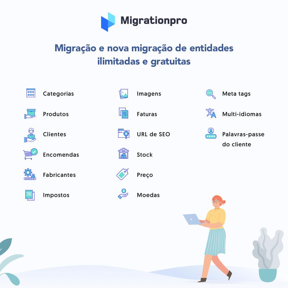 module - Migração de Dados & Registro - Ferramenta de Migração de Magento para PrestaShop - 2