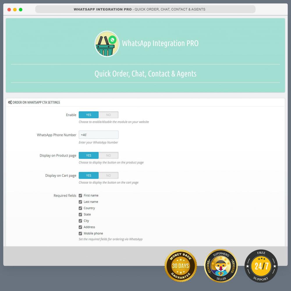 module - Asistencia & Chat online - Integración de WhatsApp PRO: pedido, chat, agentes - 3